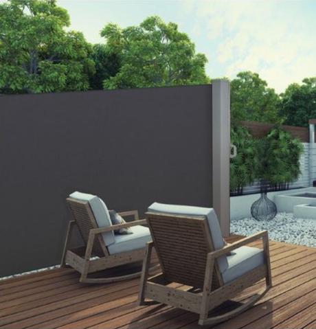 paravent rétractable extérieur design - blog déco - clemaroundthecorner