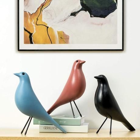 déco oiseau statuette corbeau bois noir bleu terracotta design - blog décoration - clem around the corner