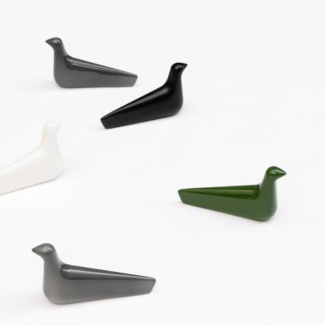 oiseau décoratif céramique ronan erwan bouroullec vitra vert blanc gris