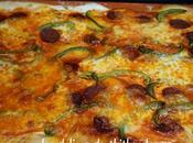 pizza chorizo poivron vert