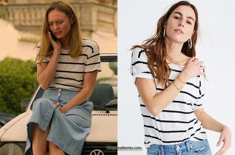 WHITE LINES : Zoe's stripe t-shirt in S1E02