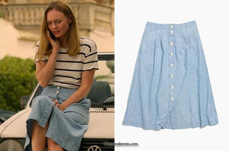 WHITE LINES : Zoe's chambray skirt in S1E02