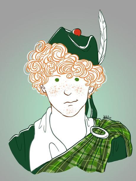 un bon petit diable, comtesse de ségur la famille belette portrait personnalisé fanart écossais garçon
