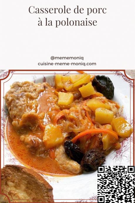 casserole de porc à la polonaise