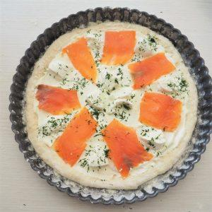 Pizza au saumon fumé
