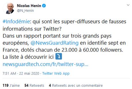 #Désinformation : ces comptes Twitter au palmarès de la honte internationale #fachosphère