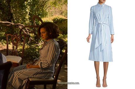 WHITE LINES : Conchita's striped shirtdress in S1E08