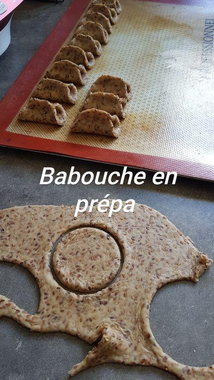 Babouches Gâteaux au sésame