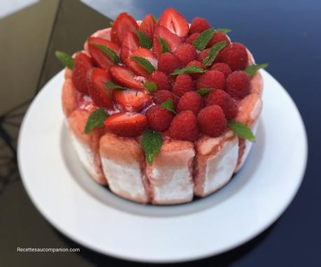 Charlotte aux fraises de Hervé Cuisine prête en 30 min