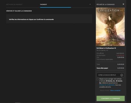 Sid Meier's Civilization VI gratuit sur Epic Games