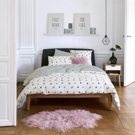idée déco conseil aménagement chambre ado paris grise noire blanche rose