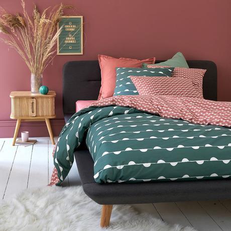 mur peinture terraccotta vase herbe de la pampa séché blog décoration rose verte
