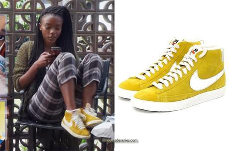 BLOOD & WATER : Puleng's yellow mustard shoes