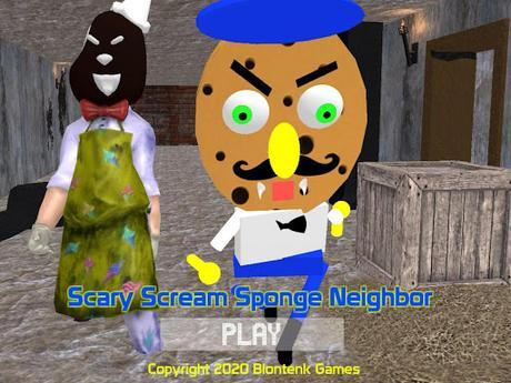 Code Triche Scary Scream Neighbor Sponge Night APK MOD (Astuce) 1