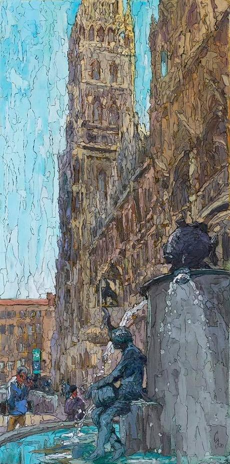 Les peintures munichoises du peintre Sergueï  Sovkov. Prochainement à la Kunstbehandlung de Munich.