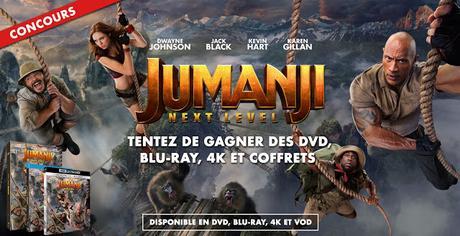 [CONCOURS] : Tentez de gagner votre exemplaire DVD/Blu-ray/4K de Jumanji : Next Level !