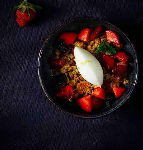 dessert facile , lait concentré Regilait , sans sorbetière , pesto menthe