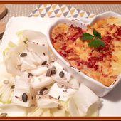 Purée de pommes de terre gratinée au cheddar et lard fumé. - Oh, la gourmande..