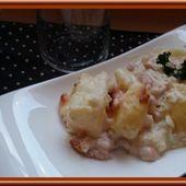Pommes de terre à la carbonara gratinées - Oh, la gourmande..