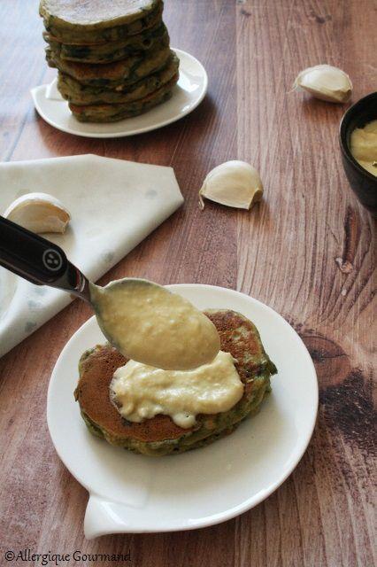 Pancakes aux épinards { sans gluten, sans lait, sans œufs }