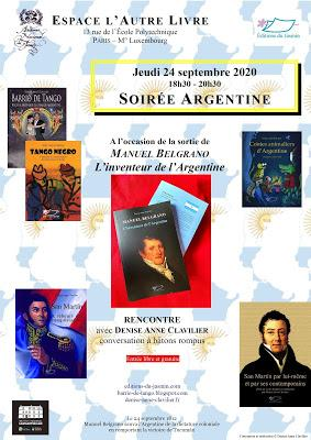 Rendez-vous le 24 septembre pour une soirée Argentine dans le Quartier latin [ici]