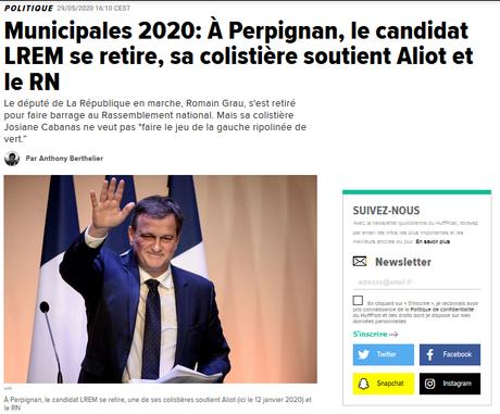 « Faire barrage ! », qu'ils disaient… (#LREM +#RN = love) #Perpignan