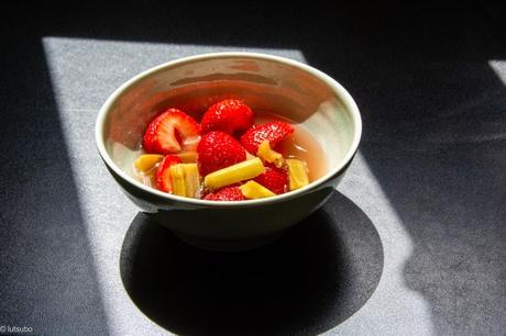 Les parfums – Rhubarbe et fraises à la nage