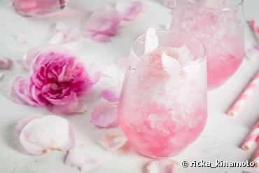 Sirop bio de pétales de rose