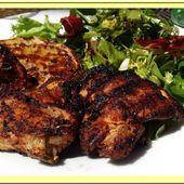 Hauts de cuisse de poulet marinés au paprika - Oh, la gourmande..