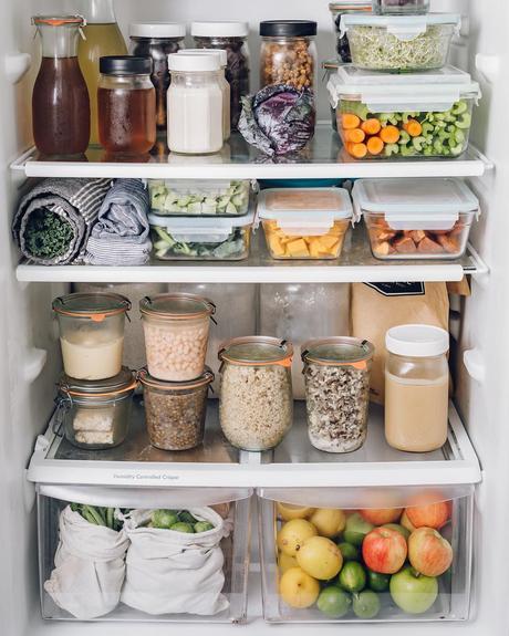 zéro déchet bocaux vert hermétique frigo idée rangement aliment cuisine - blog déco - clem around the corner