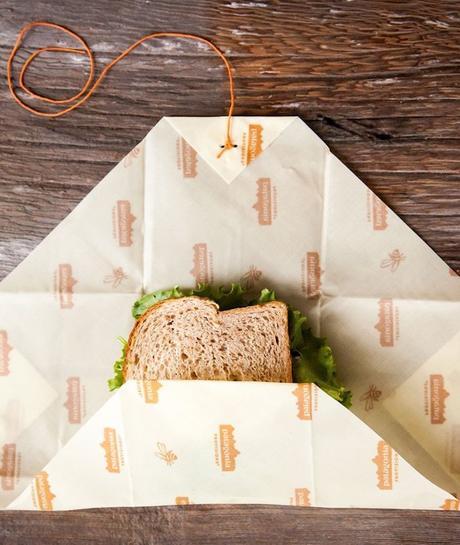 zéro déchet emballage jaune écolo bee wrap cire abeille sandwich - blog déco - clem around the corner