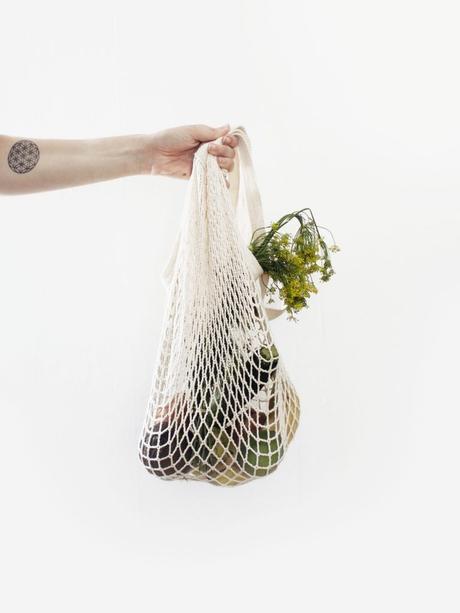 tote bag sac filet blanc courses légume fruit cuisine à fabriquer soi meme