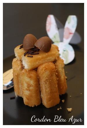 Charlottes individuelles banane chocolat sirop au rhum