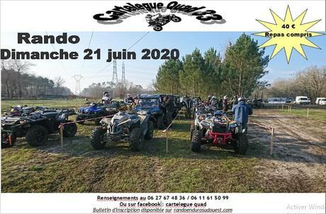Randonnée Quad, moto et SSV du Cartelègue-quad 33, le 21 juin 2020 à Cartelègue (33)