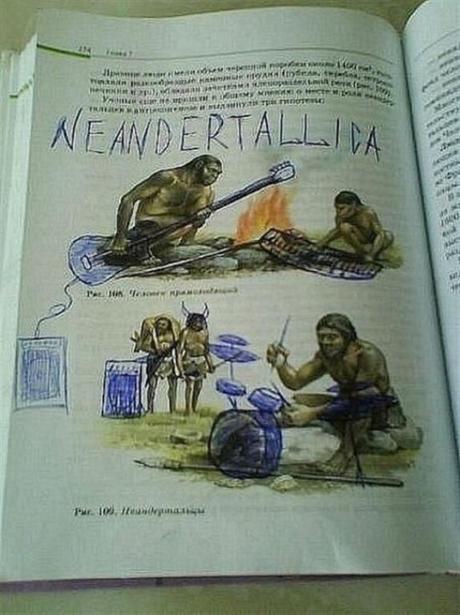 20 Exemples de vandalisme géniaux d'étudiants sur leurs manuels scolaires