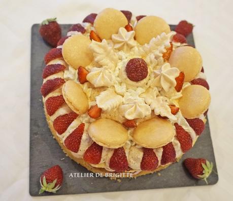 🍓A la fraise.... Number cake qui n'est pas un number cake, ni un symbole cake mais qui....