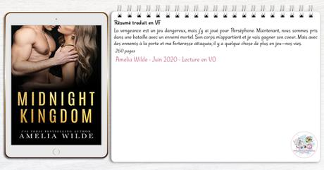 King of Shadows #3 – Midnight Kingdom – Amelia Wilde (Lecture en VO)