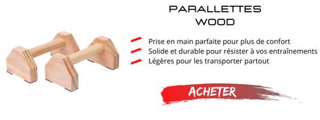 parallettes bois