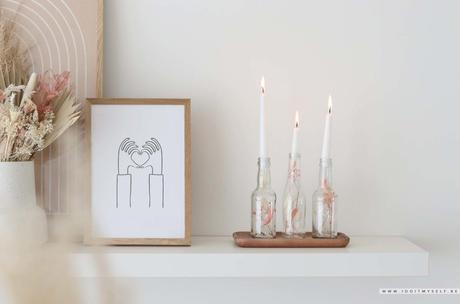 DIY Récup : bougeoir fleuri