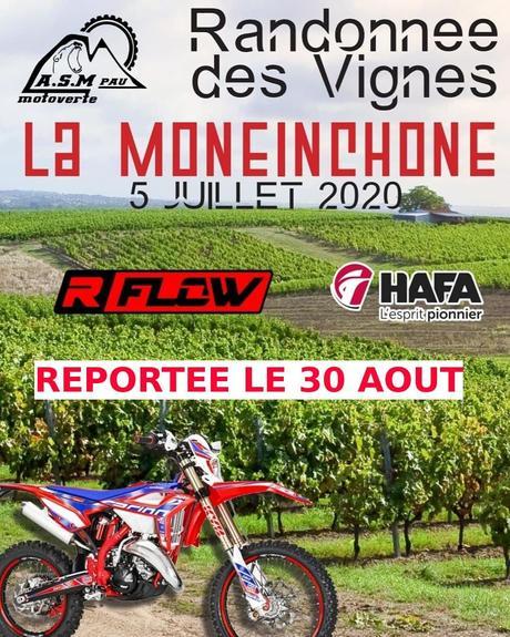 La Moneinchonne, Rando des vignes de l'ASM Pau moto verte le 30août 2020 à Monein (64)