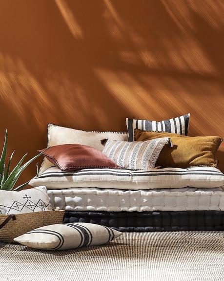 comment aménager créer terrasse style bohème chic ton orange brique - blog décoration intérieure - clematc
