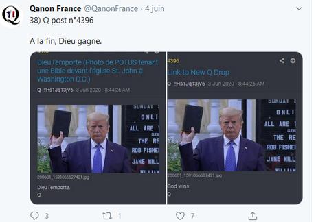 … « et la main de#Qanon était derrière le Diable…  » #Trump #NoNazis