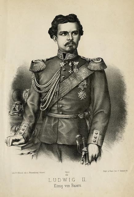 König Ludwig II. v- Bayern — (Wissembourg) — Lithographie Wentzel