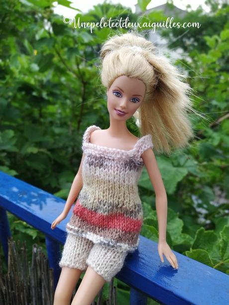 Tricoter un débardeur ample et un short pour Barbie