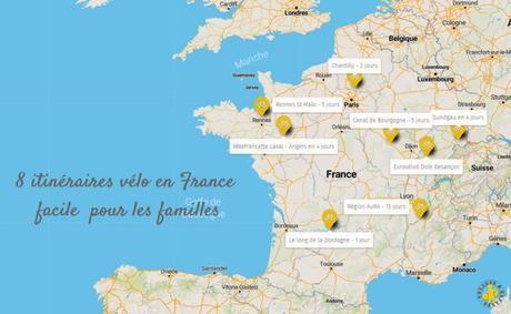 Itinéraires vélo en France en famille