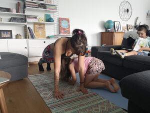 sport à la maison avec enfants