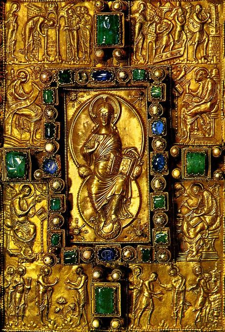 codex-aureus-de-saint-emmeran 870 ca detail Munich, Bayerische Staatsbibliothek