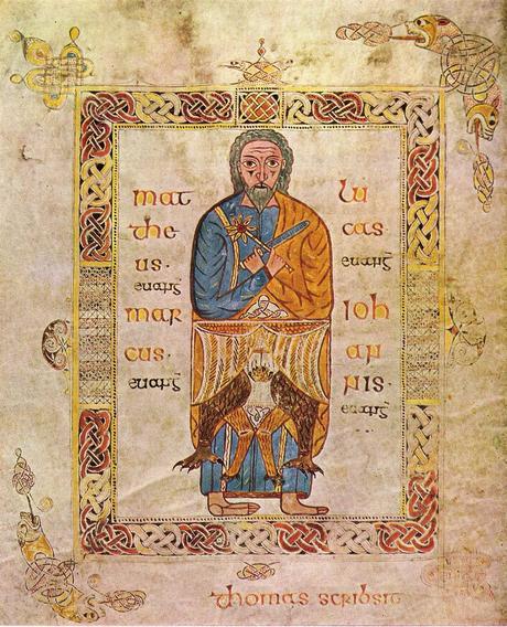 Evangeliaire de Treves Le Tetramorphe 700_750 Catehdrale de Treves Ms 61 134, folio 5 v