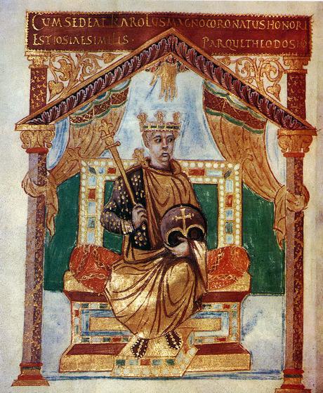 Charles le Chauve avant 869 Psautier de Charles le Chauve BNF Latin 1152 fol. 3v ,