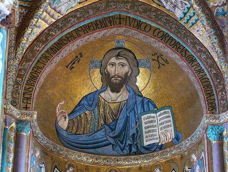 Christ_Pantokrator, 1148 Cathedral_of_Cefalu,_Sicily